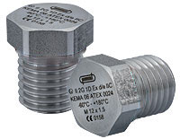 Explosion Proof Nickel Plated Brass Hex Plugs, EEx e & ATEX Approved