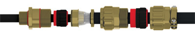 EXIOS Nickel Plated Brass Cable Gland